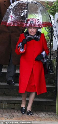 The Queen seen leaving church today...