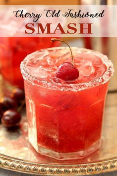 Bourbon Drinks We Love: Cherry Old Fashioned Smash! Fresh, seasonal fruits and whiskey simply go hand and hand. Try this recipe and you're in for a great night!