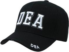 4e7865c6d5e80 Black DEA Drug Enforcement Administration Baseball Cap Hat One Size Fits  AllFrom  JW Justice Wear