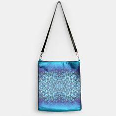 Elegant Blue Frost Sparkle Handbag, Live Heroes