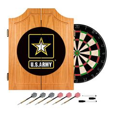 Trademark Games U.S. Army Bristle Dart Board Complete Set - ARMY7000