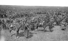 And a wider shot of the cavalry corps at Arras May 1917