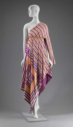 Dress, silk with metal and plastic, Arnold Scaasi designer, American, 1970