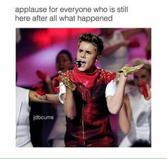 Applause for y'all real beliebers ❤
