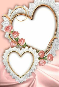 Gify i Obrazki: frame love Flower Background Wallpaper, Flower Phone Wallpaper, Heart Wallpaper, Flower Backgrounds, Wedding Frames, Wedding Cards, Foto Frame, Wedding Invitation Background, Boarders And Frames