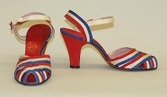 Sandals  I. Miller (American, founded 1911)  Date: ca. 1938 Culture: American Medium: (a, b) leather
