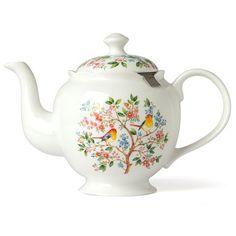 Ashdene - Tree of Life Teapot with Infuser | Peter's of Kensington - Designed in Australia, Fine Bone China, metal infuser.