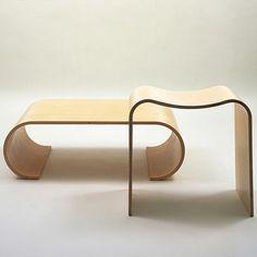 'Corin Mellor Beech Plywood Furniture' ::  Corin Mellor for David Mellor