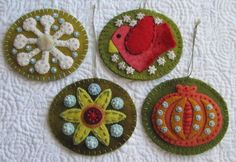 Finished Sue Spargo Ornaments by Alamosa Quilter, via Flickr