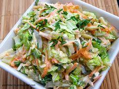 Smak mojej kuchni...: Surówka z kapusty pekińskiej Easy Chicken Recipes, Asian Recipes, Ethnic Recipes, Vegetarian Recipes, Cooking Recipes, Healthy Recipes, Chinese Cabbage Salad, Appetizer Salads, Side Salad