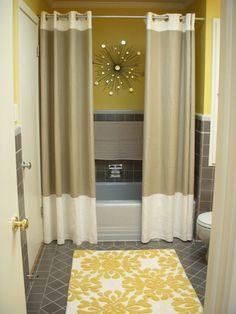 design idea: double shower curtains