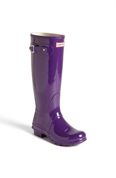 Hunter 'Original Tall' Gloss Rain Boot (Women) available at #Nordstrom