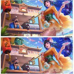 Hayabusa, hanabi, and kagura Couple Wallpaper, Cute Anime Wallpaper, Bang Bang, Alucard Mobile Legends, Mobile Legend Wallpaper, Hanabi, Mobile Game, Anime Art Girl, League Of Legends