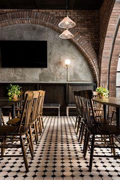historic 'salón sociedad' transformed into rustic resto-bar in monterrey