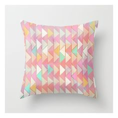 Pale Playful Chevron (8) Throw Pillow (27 CAD) ❤ liked on Polyvore featuring pillow and throw pillows