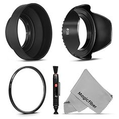 Altura Photo 58mm Tulip Lens Hood Collapsible Rubber Lens Hood UV Filter Lens Cleaning Pen and MagicFiber Microfiber Cleaning Cloth >>> More info could be found at the image url.