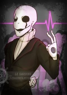 Gaster Print. Undertale. by Le Sardine Great quality poster of Gaster from UndertalePosters printed in sizes A3, A4 and A5.If you want your copy signed, please leave a note with your order.Deviantart: http://flysardineta.deviantart.com/Instagram: le_sardineTwitter: https://twitter.com/LeSardine