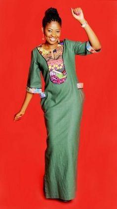 Image result for ankara kaftan styles