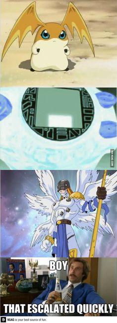 Digimon....Patamon digivolve to Angemon!!