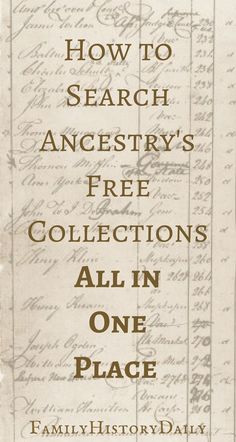 Genealogy Tips: Find hidden genealogy record collections on FamilySearch with this trick. This free genealogy research site can help you grow your family tree fast. Free Genealogy Records, Free Genealogy Sites, Genealogy Forms, Genealogy Research, Family Genealogy, Genealogy Chart, Genealogy Humor, Ancestry Records, Ancestry Free