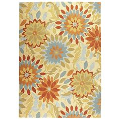 Dazzle Floral Rugs - Persimmon | Pier 1 Imports