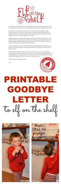 A printable goodbye letter for Elf on the Shelf. Perfect way to wrap up all the fun-even has a reminder about the reason for the season. A MUST HAVE if you do Elf on the Shelf. - Balancing Home With Megan Bray