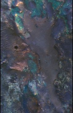 Colourful pattern on Mars Planet.-- Who would have guessed that Mars would be so intricately carved and beautifully shaped, I certainly didn't.
