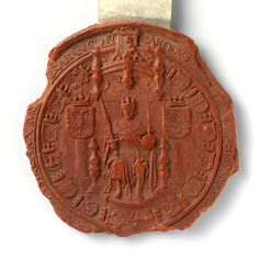 Wax seal of Emperor Charles V, anonymous, c. 1553 - 1557