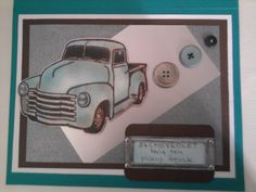 Birthday card for my neighbour-chevy 1953-he was 53