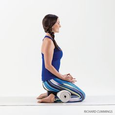 Virasana or Hero Pose is a balm for tired legs at the end of the day, as well as an alternative to Lotus for seated meditation.