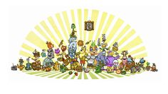 Larsson Portfolio - Set of Characters from several different game. Game Title, Different Games, Characters, Figurines