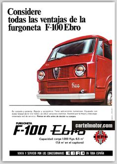 Alfa Romeo, Ebro, Cars And Motorcycles, Automobile, Vehicles, Van, Classic Cars, Motors, Advertising