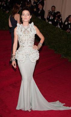 Jessica Stam at the Met Costume Institute Gala 2012