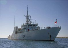 Her Majesty's Canadian Ship (HMCS) SHAWINIGAN, a Kingston-class Maritime Coastal Defence Vessel (MCDV) lies at anchor in Rankin Inlet, Nunavut on August 24, 2016 in support of Operation NANOOK. Photo: Corporal Neil Clarkson, 14 Wing Imaging, Greenwood, Nova Scotia GD2016-441-38