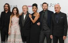 The cast and director Ridley Scott in London for the Exodus premiere.