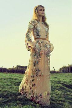 Bohemian dress inspiration | Valentino | photo...