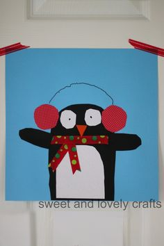 cute penguin craft with template and instructions