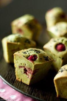 Muffins Légers au Thé Matcha et aux Framboises - Food for Love