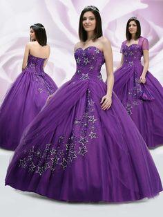 Ball Gown Sweetheart Applique Beading Floor-length Satin Tylle Dress