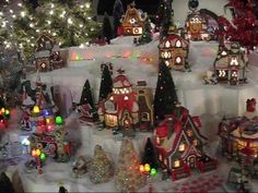 70 foot Christmas village