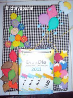 Calendario decorado  con Fomy