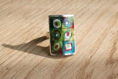 Оriginal stylish cloisonne enamel ring . Hot by RiabaEnamel