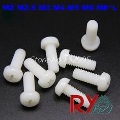 $4.50 (Buy here: https://alitems.com/g/1e8d114494ebda23ff8b16525dc3e8/?i=5&ulp=https%3A%2F%2Fwww.aliexpress.com%2Fitem%2FM3-16-100pcs-DIN7985-Nylon-Phillips-Pan-Head-Cross-recessed-pan-head-Machine-Screws%2F1677160091.html ) M2 M2.5 M3 M4 M5 M6 M8*L  Nylon screws DIN7985 Round Head Phillips Machine Screws white color for just $4.50