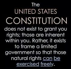 The Constitution was written to frame a limited government so that the natural rights of 'We The People' could be exercised freely! Political Quotes, Political Views, Political Cartoons, Great Quotes, Inspirational Quotes, Awesome Quotes, Motivational, Profound Quotes, Wise Quotes
