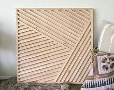 Hexágono geométrico del arte de pared de madera por ArtGlamourSligo