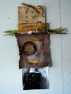 land & cinders  caught waiting, 2010  photograph, ink, reeds, linen, paint, ink, gouache, straw