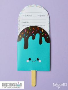 Make a card, the small online shop of invitations and customizable birthday decorations, has created for Momes these pretty greedy and iced invitations to print just below! Halloween Birthday Invitations, Birthday Invitations Kids, Diy Invitations, Birthday Diy, Birthday Cards, Invitations Online, Ice Cream Invitation, Tarjetas Diy, Birthday Decorations