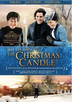 Cover image for The Christmas candle [videorecording(DVD)] Every 25 years an angel visits the candle maker and touches a candle in his shop.  Whoever lights the candle gets a miracle on Christmas Eve.