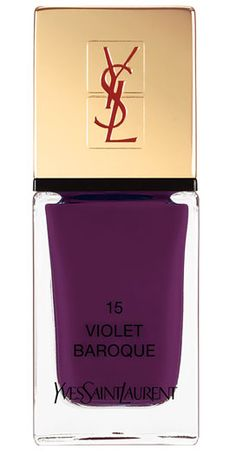 Most Popular Nail Colors for Fall 2014: Yves Saint Laurent Violet Baroque.
