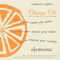 Research has shown that Orange oil has great benefits to our body & mind!